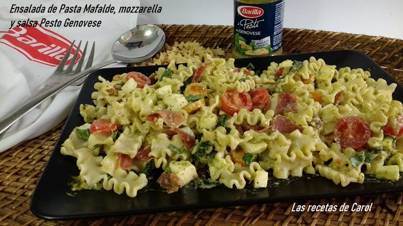 Ensalada con pasta Mafalde
