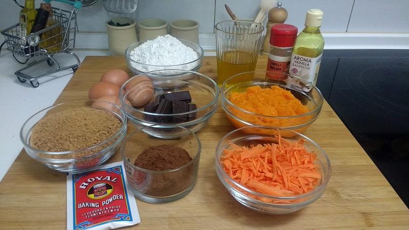 Tarata de zanahoria y chocolate