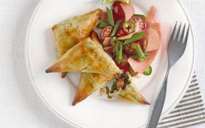 Recetas – Samosas de espinacas con ensalada india