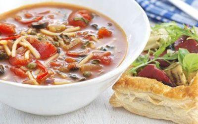 Recetas – Sopa de pasta picante