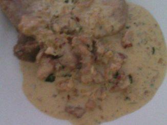 Recetas - Guiso de pollo a la crema y vino blanco