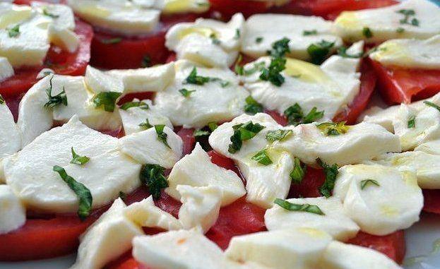 Recetas - Ensalada de tomate con queso mozzarella
