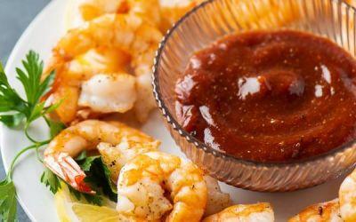 Cóctel de camarones fritos al aire: aperitivo fácil
