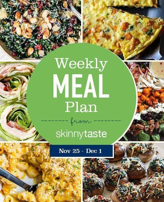 Plan de comidas Skinnytaste (25 de noviembre al 1 de diciembre)