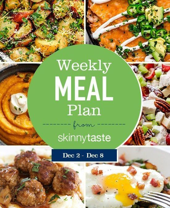 Plan de comidas Skinnytaste (2 de diciembre-8 de diciembre)