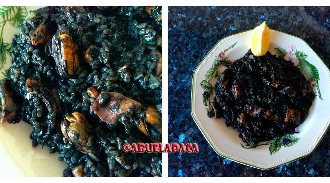 Arroz negro con potas y mejillones0 (0)
