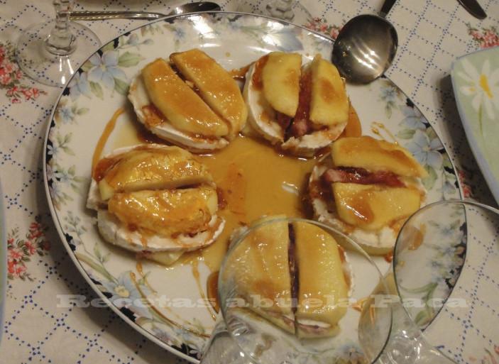 Manzanas con queso de cabra al caramelo0 (0)