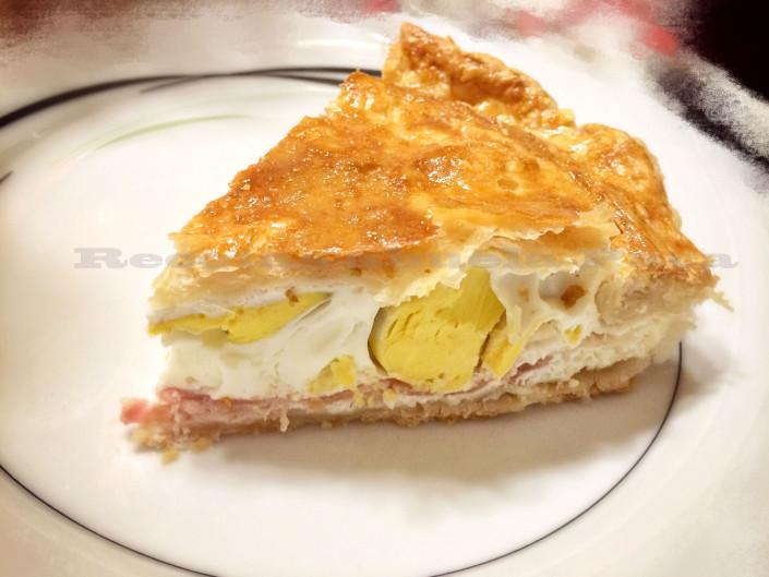 Pastel de bacon y huevo0 (0)