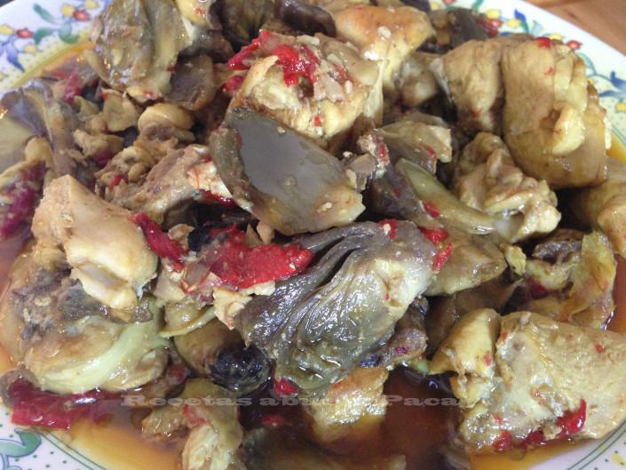 Pollo con alcachofas y piñones0 (0)