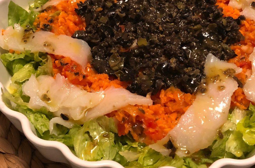 Ensalada de ahumados con vinagreta de alcaparras, mostaza y miel con Thermomix0 (0)