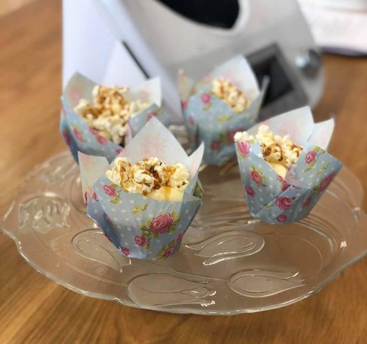 Cupcakes con palomitas y toffee salado en TM5