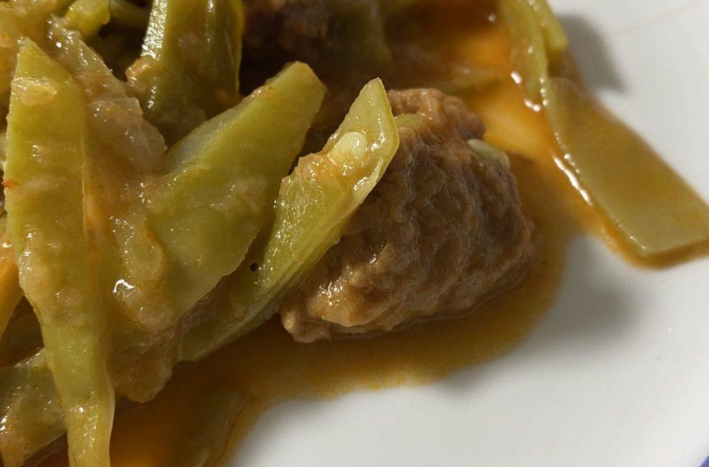 Judías verdes al curry con ternera TM60 (0)