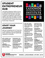 Lassonde Entrepreneur Institute program list.