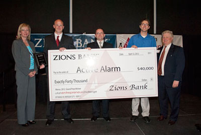 Active Alarm won $40,000 and the grand prize at the Utah Entrepreneur Challenge awards banquet.