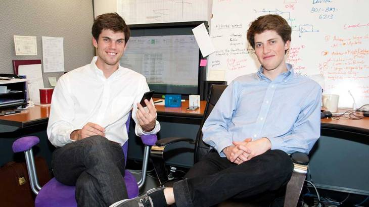 U students who created a mobile application to test for strep.