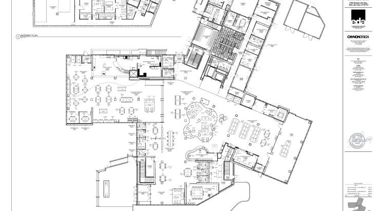 Floor plan of the Lassonde Studios workspace, garage and collaboration.