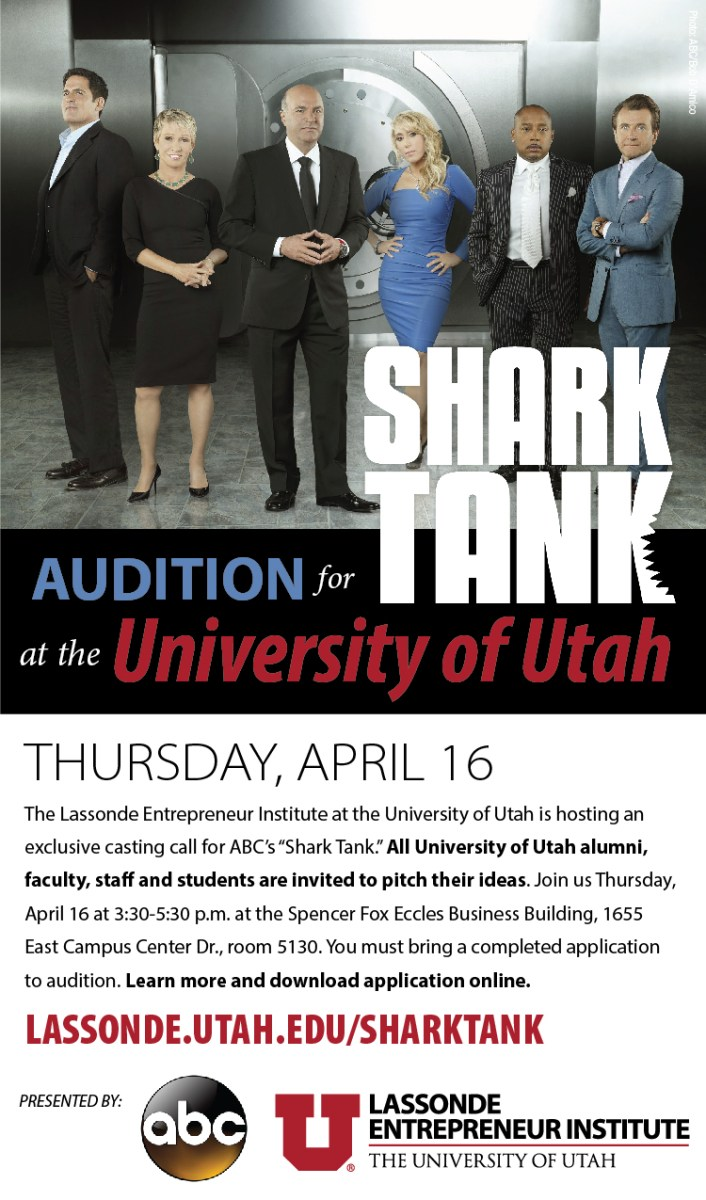 Shark Tank auditions help on the University of Utah campus.