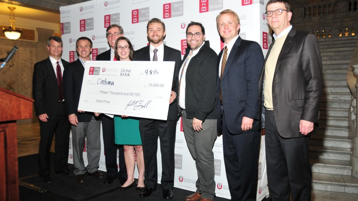 Cinluma wins Utah Bench to Bedside event.