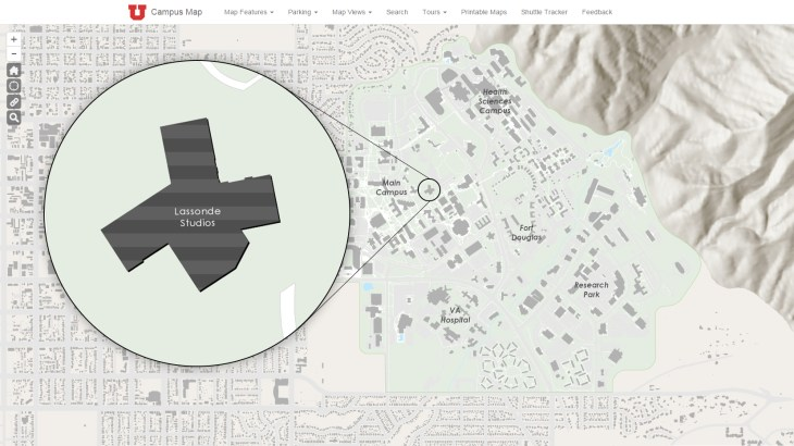 Lassonde Studios input on campus map.