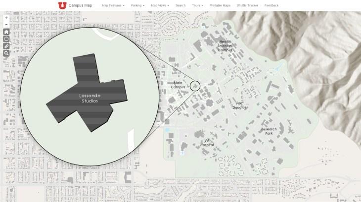 Lassonde Studios input on campus map.