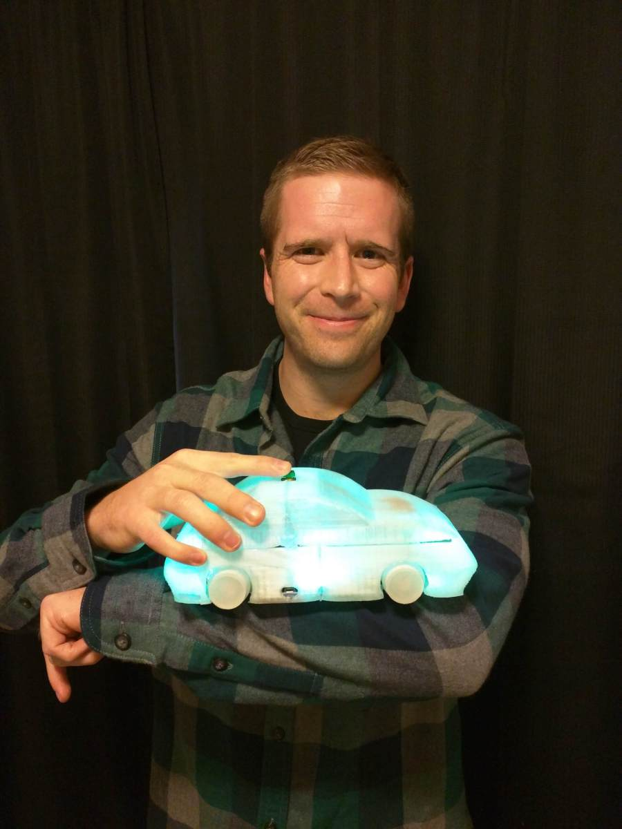 Ryan Ferrin, winner of Get Seeded, created Chameleon Car, an innovative toy for children.