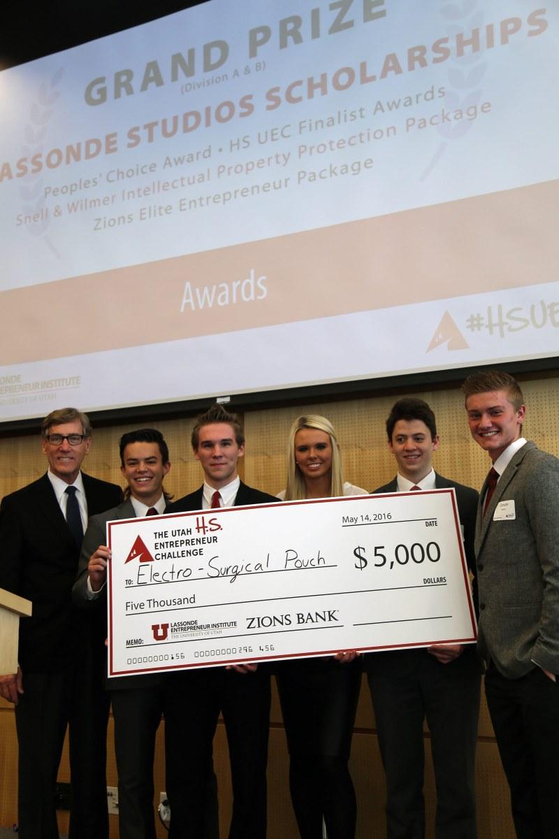 High School Utah Entrepreneur Challenge 2016 Winners