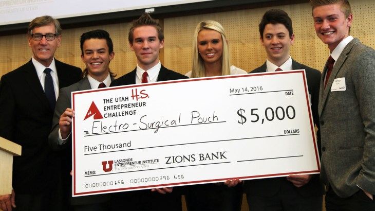 Winners of 2016 High School Utah Entrepreneur Challenge