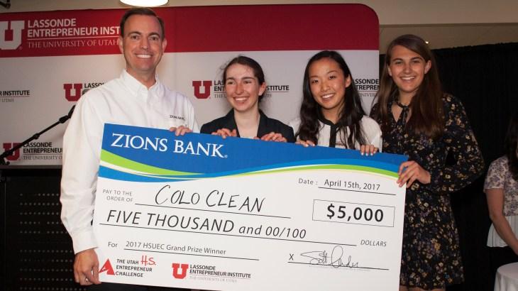 Colo Clean, High School Utah Entrepreneur Challenge