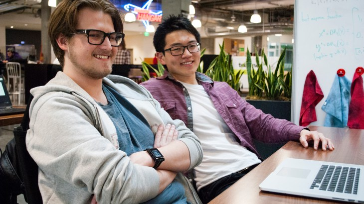 Blerp founders Kepler Sticka-Jones and Aaron Hsu