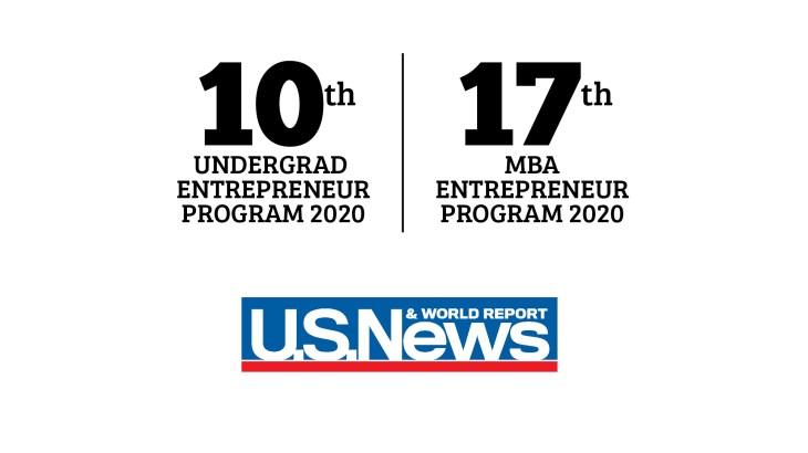 US New ranking for entrepreneurship, University of Utah