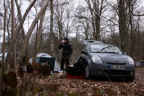 Fontainebleau boulder la musardiere camping Font Bleau