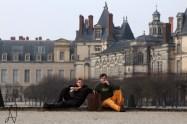 Fontainebleau boulder Schloss chateau Font Bleau