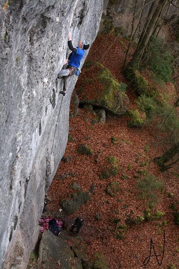 Frankenjura klettern climbing Sautanz Gößweinstein