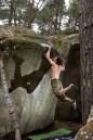 Bleau bouldering