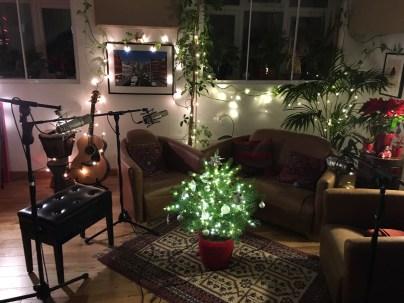 Christmassy set-up for