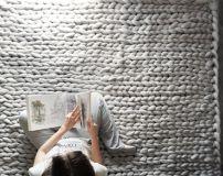 Chunky knit blanket 01