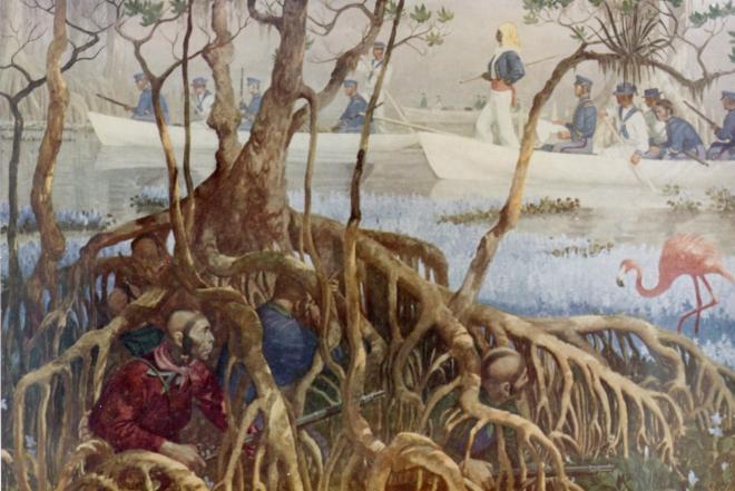 seminole_war_in_everglades