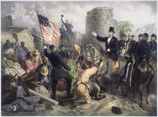 Lincoln in City Point, VirginiaGustav Bartsch (b.1821 German) Lithograph