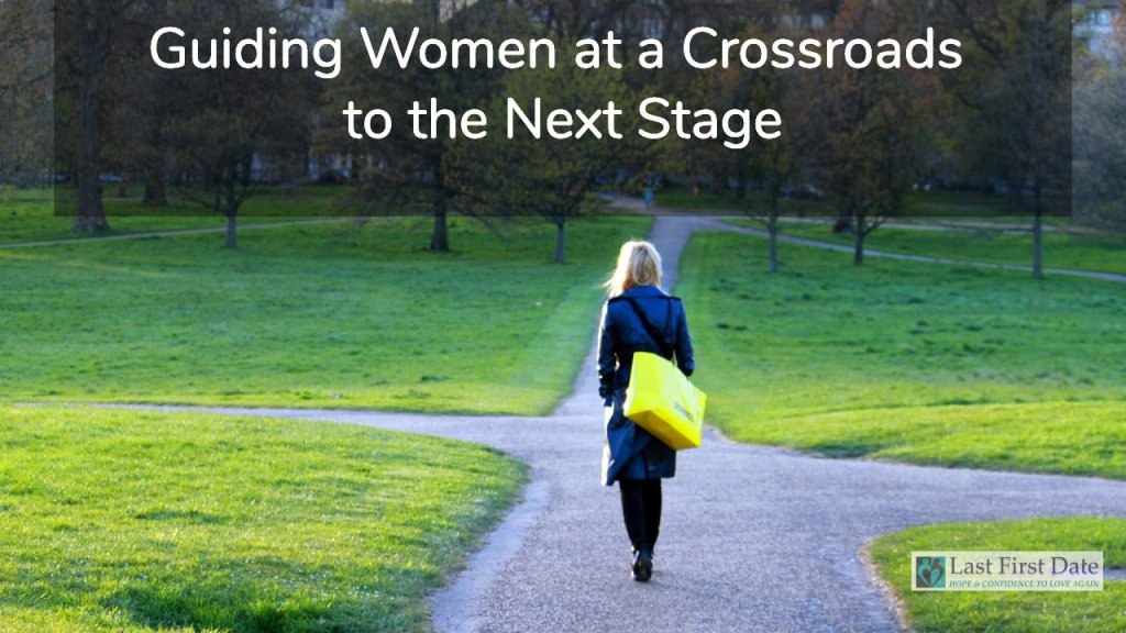 women at a crossroads