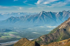 The Valley Looking from Twin Peaks across the Matanuska Valley. Photographer: Cecil Sanders / LFM www.cecilsandersphotography.com