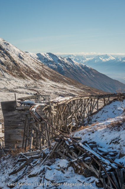 Independence Mine tracks in winter. www.cecilsandersphotography.com