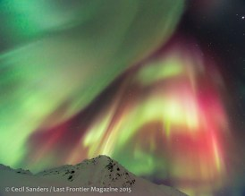 An amazing aurora display in the early spring of 2014.