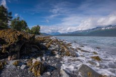 On the beach in Seward. - Copyright 2016 | Cecil Sanders Photography