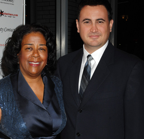 LA City Counselwoman Jan Perry with David Kean