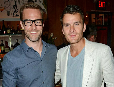 Actors James Van Der Beek and Balthazar Getty