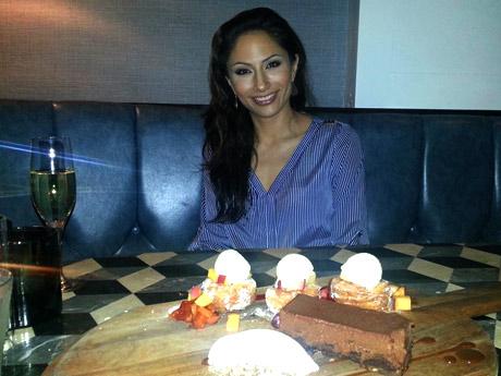 Nicole Benniga at Cast Restaurant, Viceroy Santa Monica.