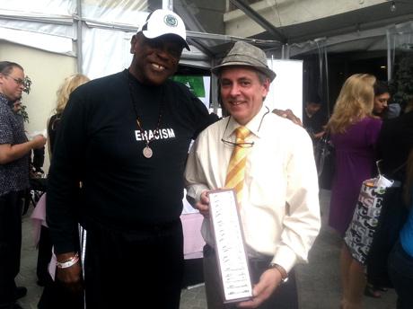 Legendary actor Lou Gossett Jr. with jewelry designer Ronaldo.