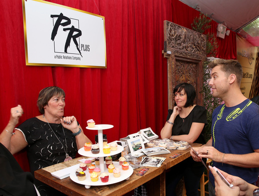 PR Plus at the backstage Grammy Suite with Lance Bass.