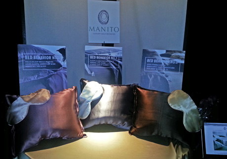 Manito Linens Luxury Silk Travel Pillow and Silk Sleep Mask