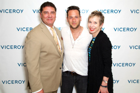 L'Ermitage Beverly Hills GM Sal Abaunza artist Jeremy Penn and Viceroy Hotel Group CFO Mary Pierson